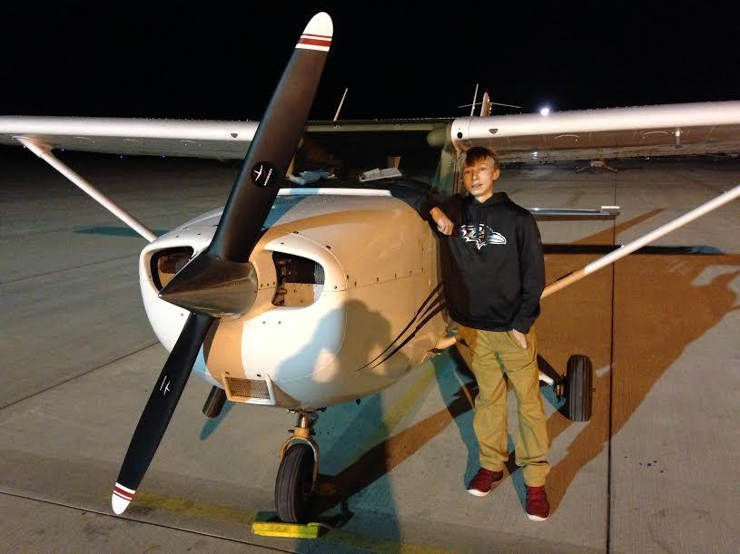 Jon by a plane