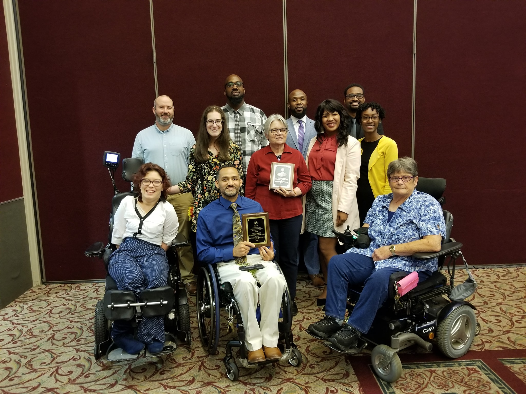 Alliance of Disability Advocates staff group photo at Awards ceremony